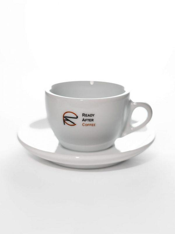 Cappuccino šálka s podšálkou Ready After Coffee