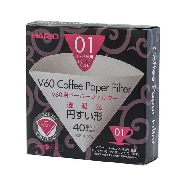 Hario papierový filter pre Dripper V60-01 40ks