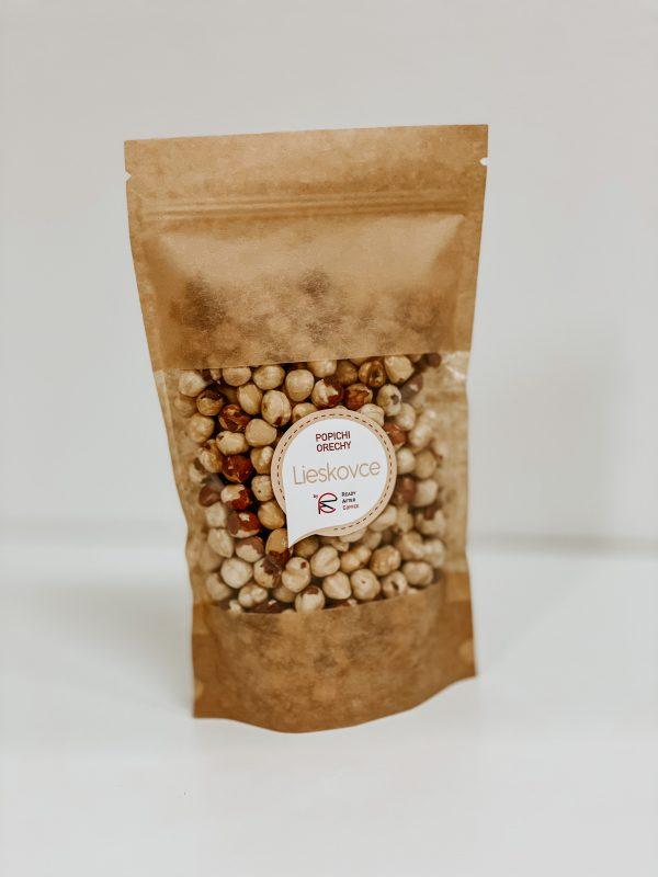 Lieskové oriešky lúpané 500g orechy nesolené káva